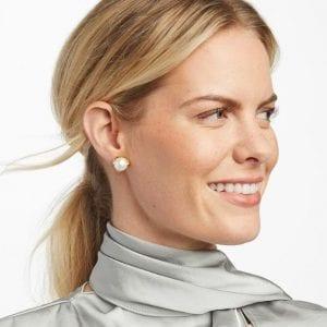 Julie Vos 24kt Yellow Gold Plate Penelope Stud Earrings