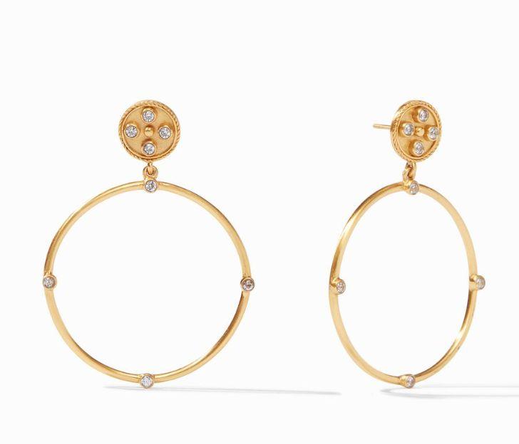 Julie Vos 24kt Yellow Gold Plate Paris Statement Earrings