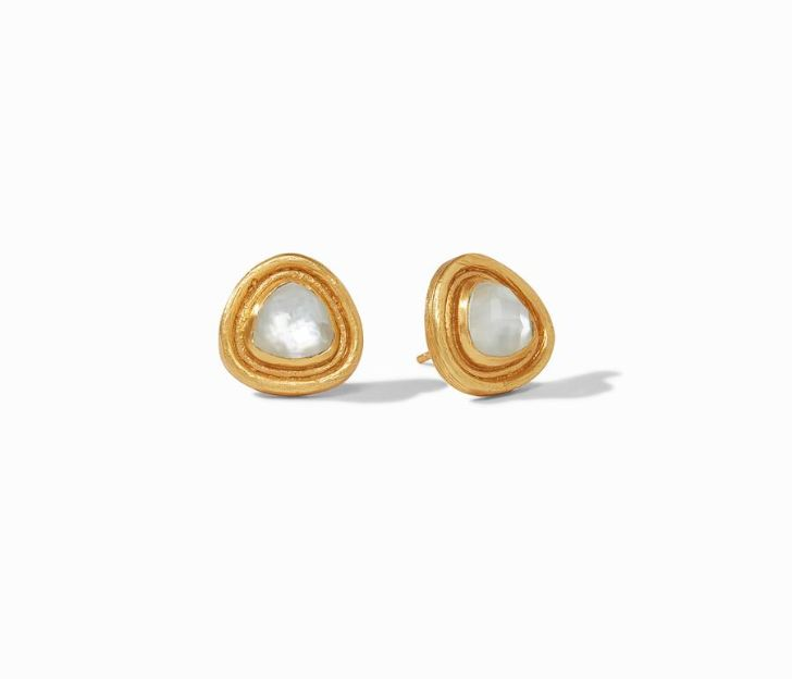 Julie Vos 24kt Yellow Gold Plate Barcelona Stud Earrings