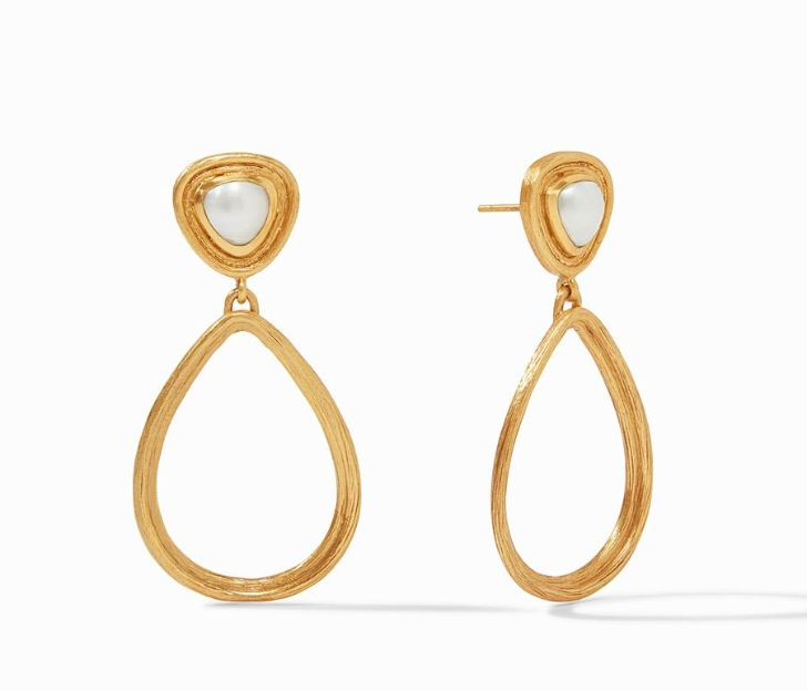 Julie Vos 24kt Yellow Gold Plate Barcelona Statement Earrings