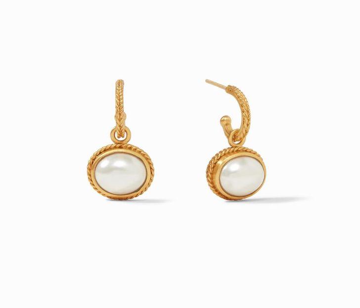 Julie Vos 24kt Yellow Gold Plate Calypso Hoop & Charm Earrings