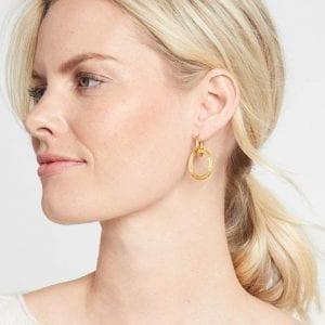 Julie Vos 24kt Yellow Gold Plate Aspen 2-in-1 Earrings