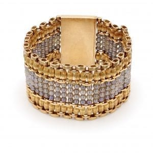 Bailey's Estate Seed Pearl and 14k Yellow Gold Bracelet