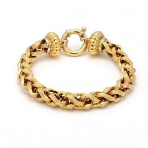 Bailey's Estate Textured Chain Bracelet in 18k Yellow Gold