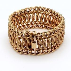 Bailey's Estate Wide Chain Bracelet in 14k Yellow Gold