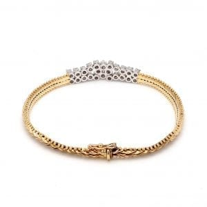 Bailey's Estate Diamond Chain Bracelet in 14k Yellow Gold