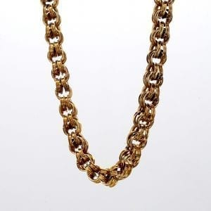 Bailey's Estate Victorian Link Necklace in 14k Yellow Gold