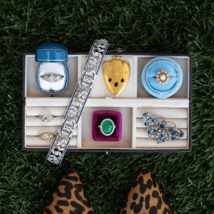 rings and bracelets in jewelry box