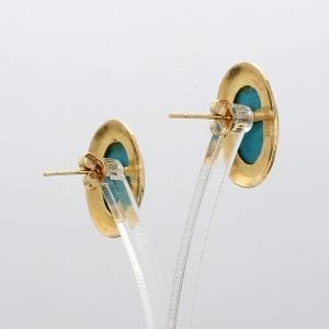 Bailey's Estate Turquoise Stud in 14k Yellow Gold