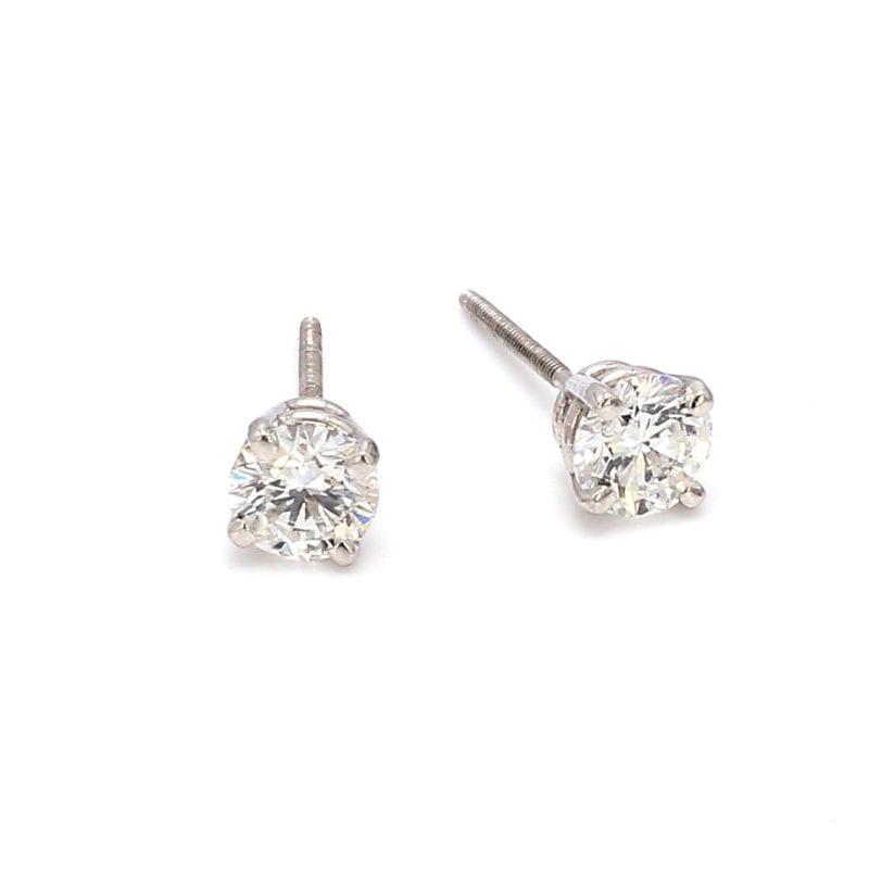 Bailey's Estate Platinum Diamond Stud Earrings