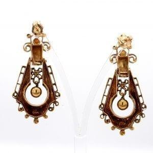 Bailey's Estate Doorknocker Earrings in 14k Yellow Gold