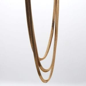 Bailey's Estate Triple Link Chain Necklace in 10k Yellow Gold