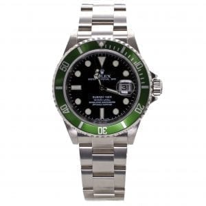 Pre-Owned Rolex 2007 Stainless Steel 40mm Kermit 50th Anniversary Submariner