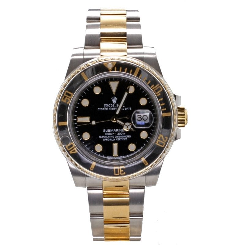 Pre-Owned Rolex 2013 18k Yellow Gold & Stainless 40mm Submariner