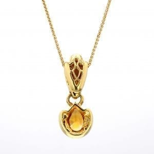 Bailey's Estate Pear Citrine Enhancer in 18k Yellow Gold
