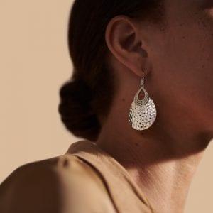 John Hardy Classic Chain Hammered Teardrop Earrings