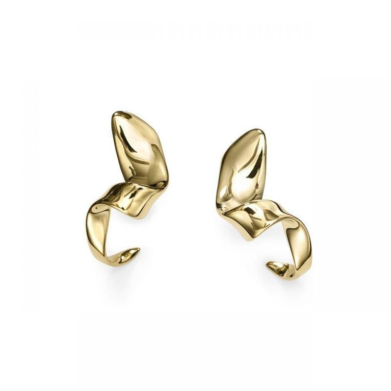 Ippolita 18k Yellow Gold Twisted Ribbon Hoop Earrings
