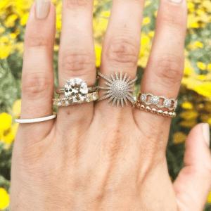 diamond rings on hand