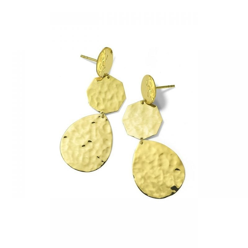Ippolita Classico Crinkle Hammered Crazy 8 Earrings in 18kt Yellow Gold