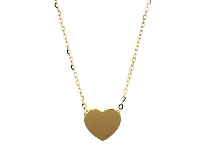 Heart Pendant Necklace in 14k Yellow Gold