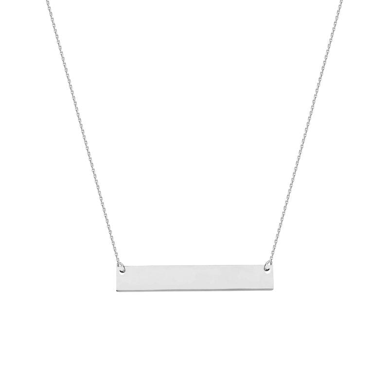 Bar Necklace in 14k White Gold