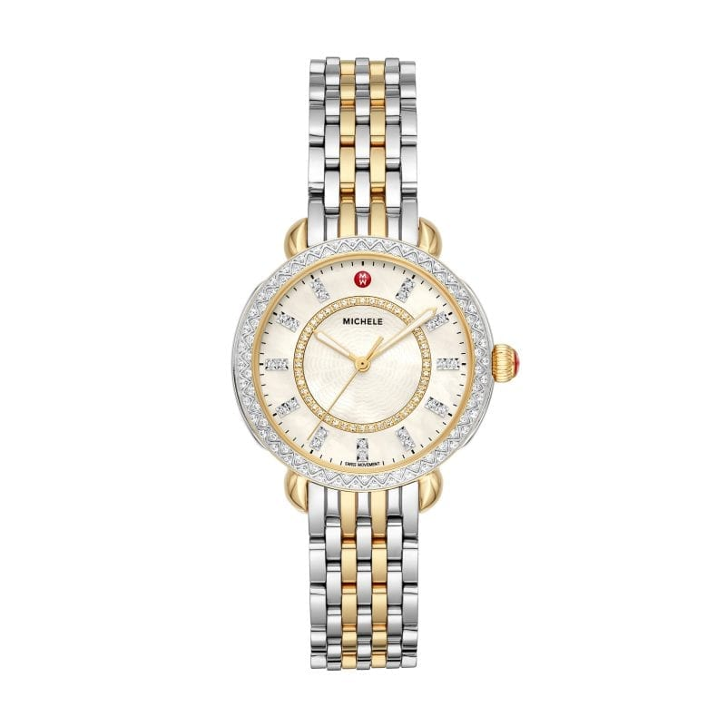 Michele Sidney Classic Two-Tone Diamond Complete Watch