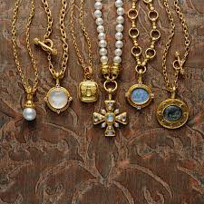 Elizabeth Locke 19kt Yellow Gold Orvieto Chain, 17'
