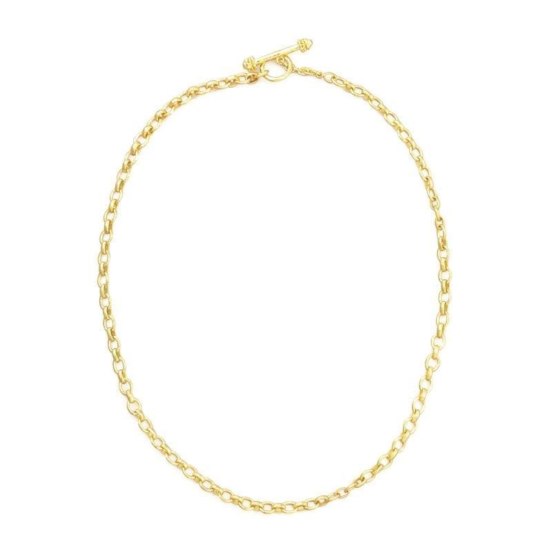 "Elizabeth Locke 19kt Yellow Gold Cortina Chain, 17"""