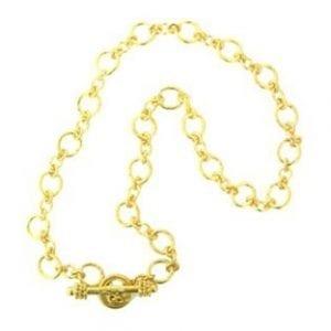 Elizabeth Locke Riviera Link Chain in 19kt Yellow Gold, 17 inches