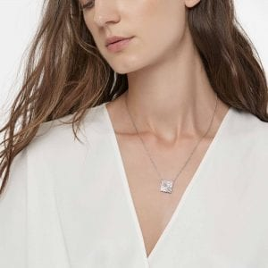 John Hardy Sterling Silver Modern Chain Necklace with Diamonds