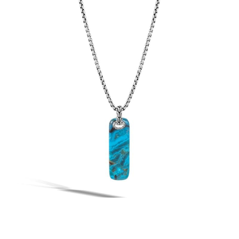 John Hardy Men's Sterling Silver Classic Chain with Chrysocolla Pendant