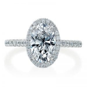 Oval Diamond Engagement Ring Setting with Halo