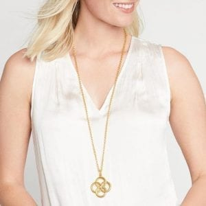 Julie Vos 24kt Yellow Gold Plate Chloe Pendant Necklace