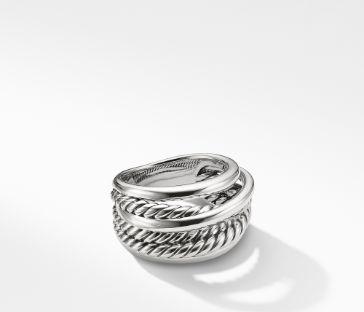 David Yurman Crossover Narrow Ring, Size 7