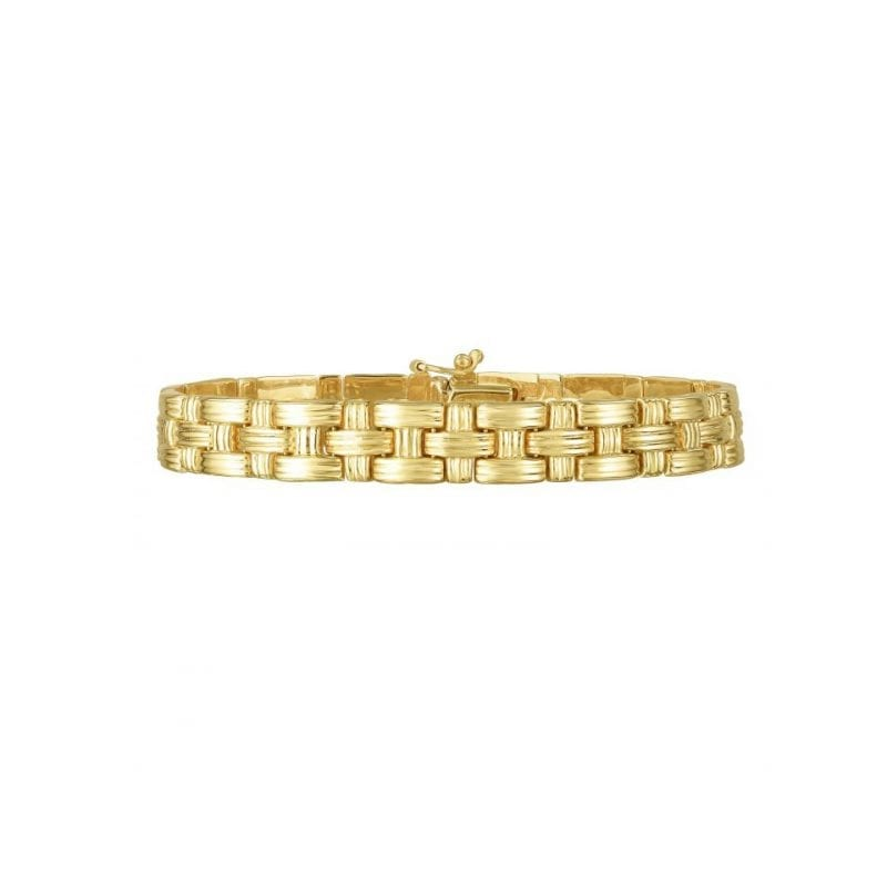 Woven Bracelet in 14k Yellow Gold
