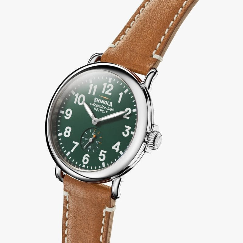 Shinola Runwell 41mm Green Dial Men's Watch