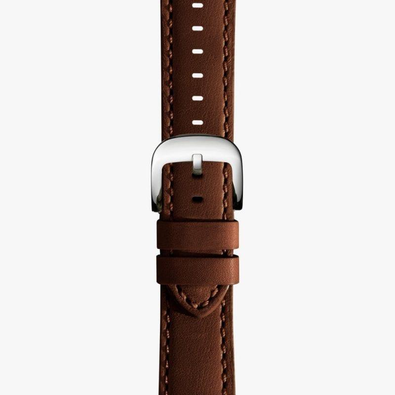 Shinola Dark Brown Leather Watch Strap