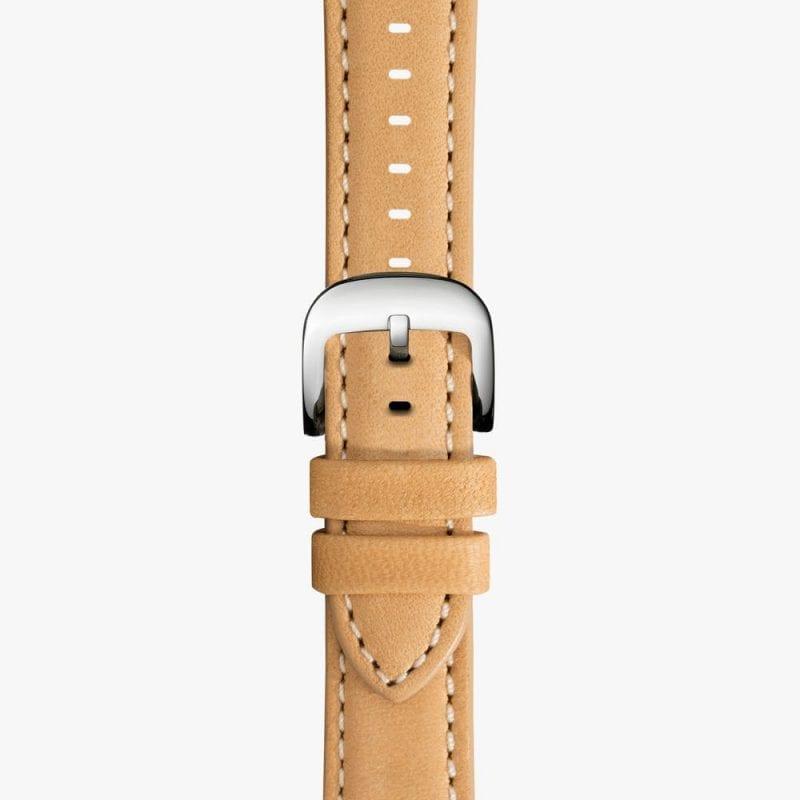 Shinola 24mm Natural Leather Strap