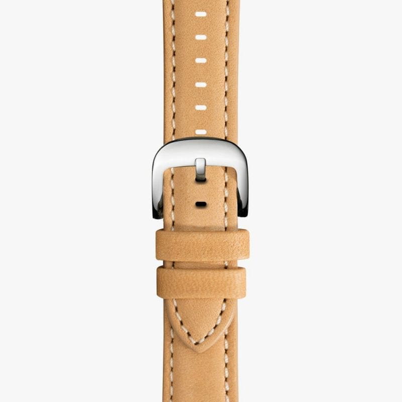 Shinola 20mm Natural Leather Strap