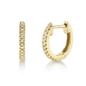 Bailey's Icon Collection Tiny Diamond Hoop Earrings