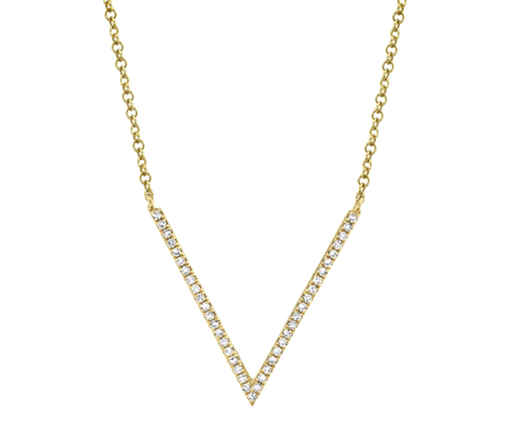 Bailey's Goldmark Collection V Diamond Pendant Necklace