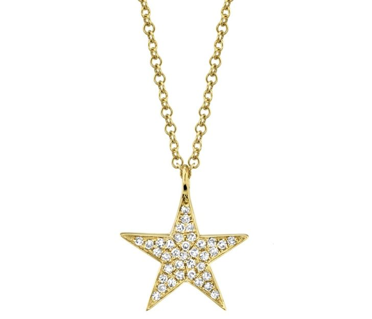 Bailey's Goldmark Collection Diamond Star Pendant Necklace in 14k Yellow Gold