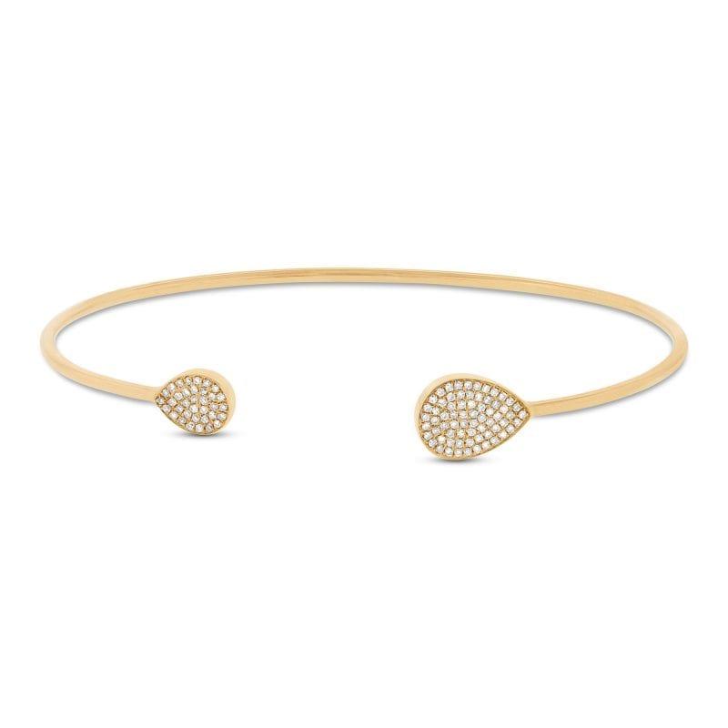 Bailey's Goldmark Collection Diamond Cuff Bracelet in 14k Yellow Gold