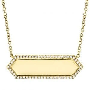 Bailey's Heritage Collection Diamond Hexagon ID Necklace