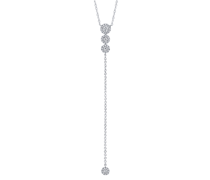 Diamond Lariat Necklace in 14k White Gold