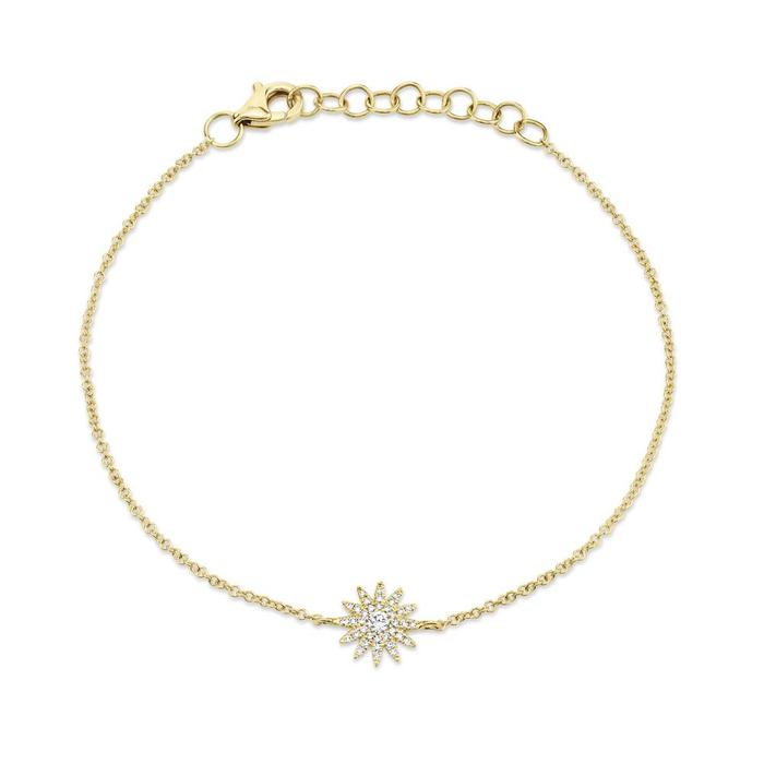 Bailey's Icon Collection Sunburst Bracelet in 14k Yellow Gold