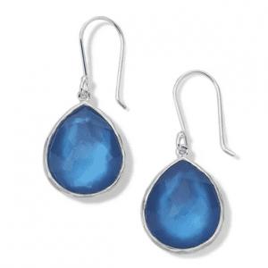 Ippolita Wonderland Sterling Silver Small Teardrop Earrings in Adriatic