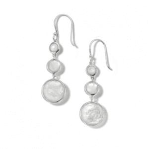 Ippolita Lollipop Sterling Silver Lollitini 3-Stone Drop Earrings in Mother-of-Pearl