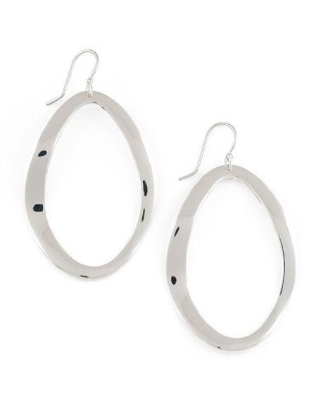 Ippolita Sterling Silver Wavy Open Oval Earrings