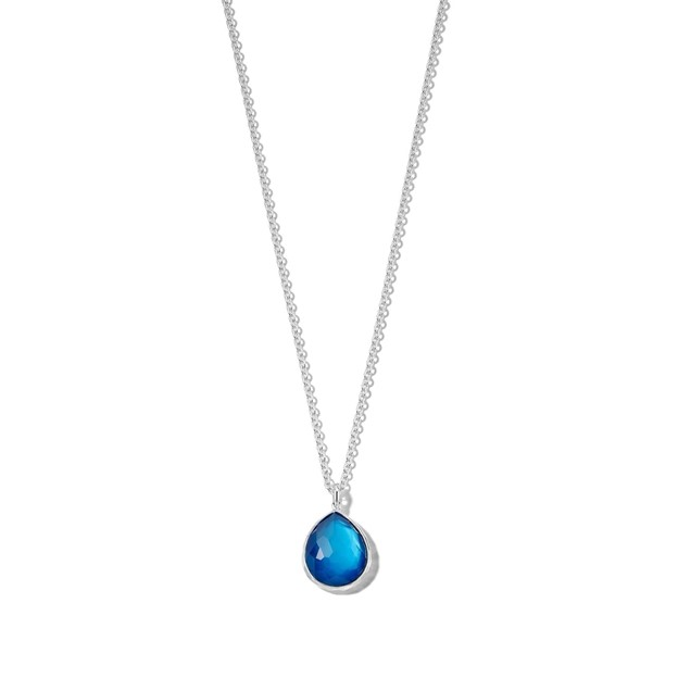 Ippolita Wonderland Sterling Silver Small Pendant Necklace in Adriatic